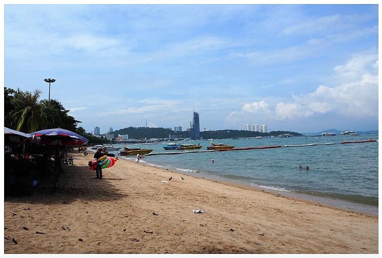 Plage de Pattaya. Thaïlande.