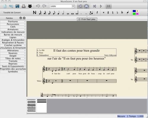 Un éditeur de partition gratuit : museScore