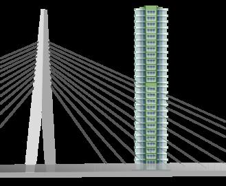 Illustration hauteur pylônes équivalent à 29 étages d'immeuble