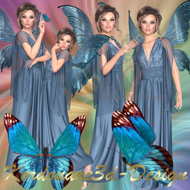 Befana la jolie fée au papillon
