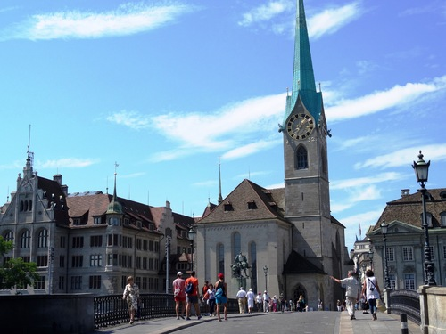 Zurich, autour de Grossmünster (photos)