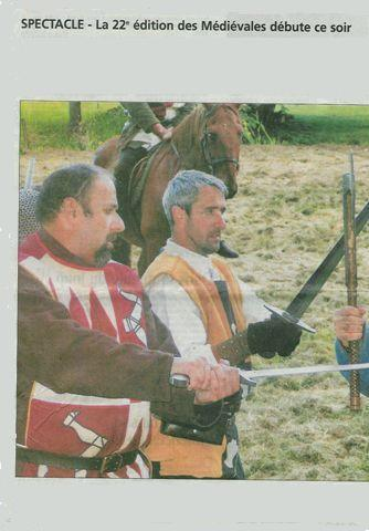 2 acteurs de la reconstitution historique de la bataille de 1356