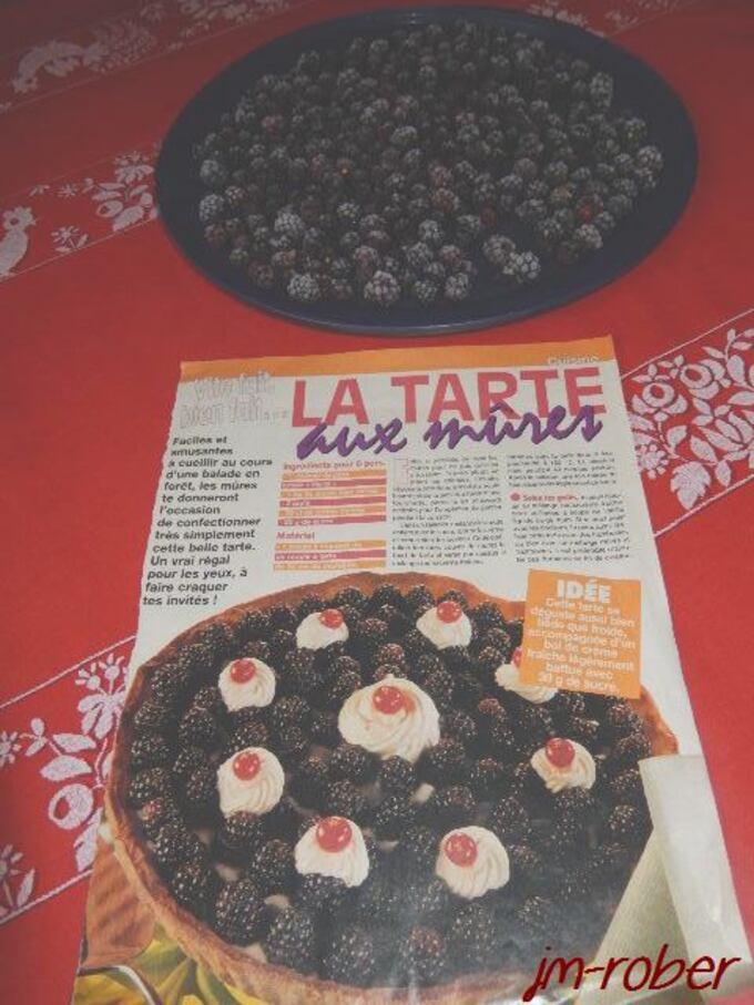 Recette: Envie de tarte aux Mûres en février,ça vous dit....