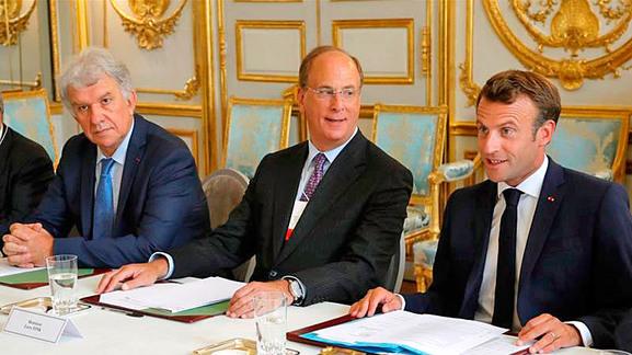 Macron invite les dirigeants de BlackRock au comité d'Action Publique 2022