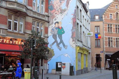 A Bruxelles, que des BD