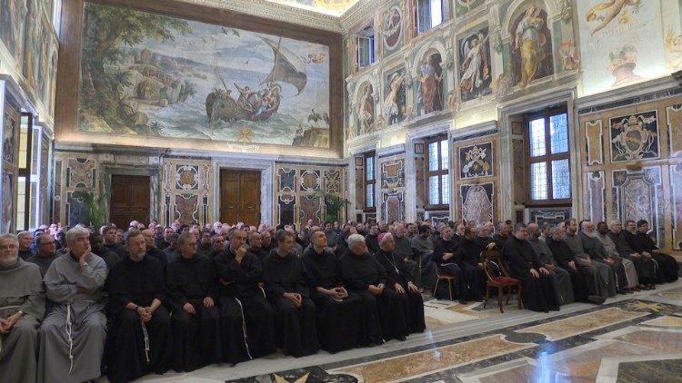 Audience avec le chapitre général des frères mineurs conventuels