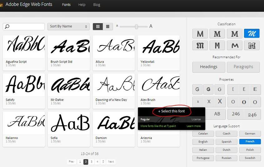 Ajouter une web police de caractères sur son blog
