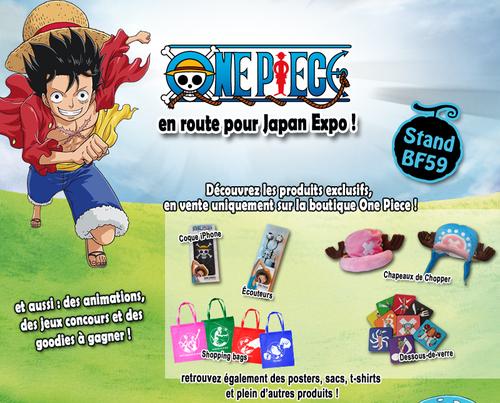 Produits exclusifs One Piece à la Japan Expo