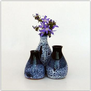 Mini vases bleus