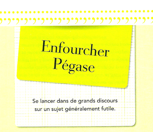 ... enfourcher Pégase....