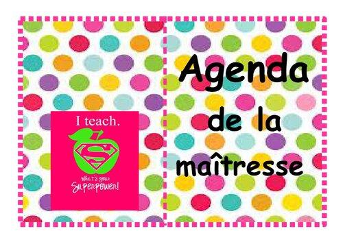 mon agenda personnalisé!