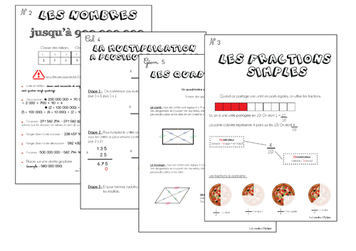 Leçons Maths CM Période 2