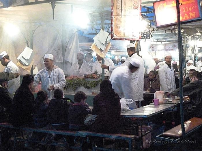 Jemaa El - Fna , le restaurant de plein air