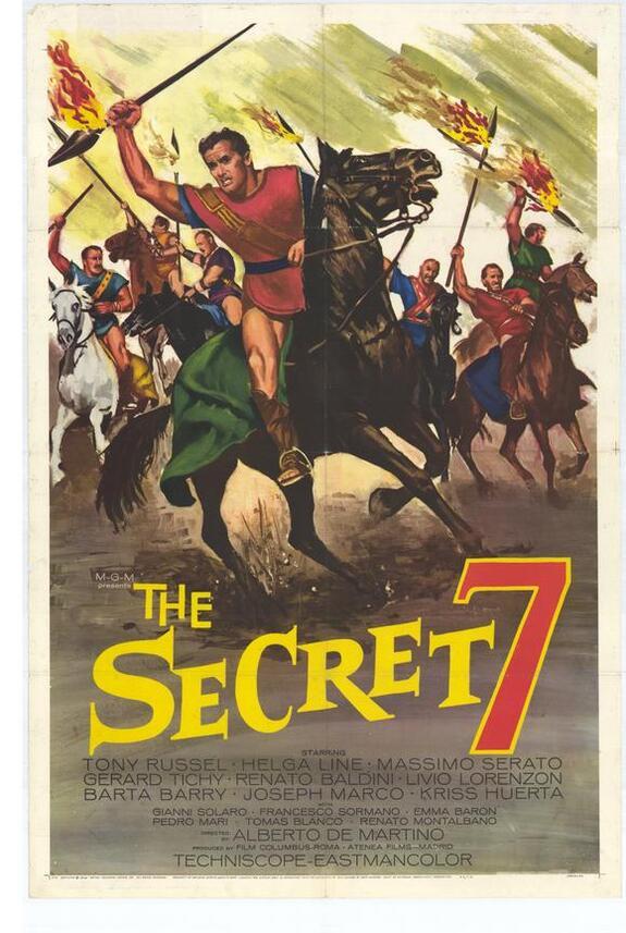 THE SECRET 7 box office usa 1966
