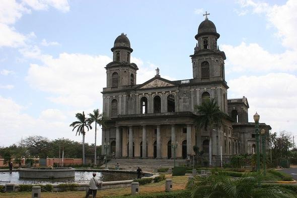 Managua; l'ancienne cathédrale;