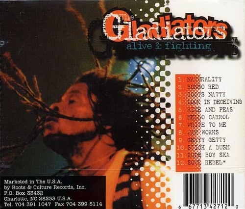 "The Gladiators : CD "" Alive & Fighting "" Roots & Culture Records Inc. RDDD 008 [ US ]"
