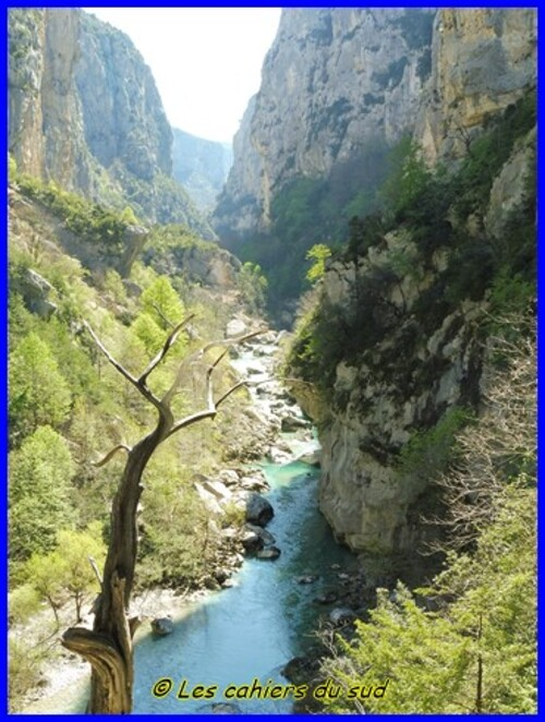 Verdon, le sentier de l'Imbut et le sentier Vidal
