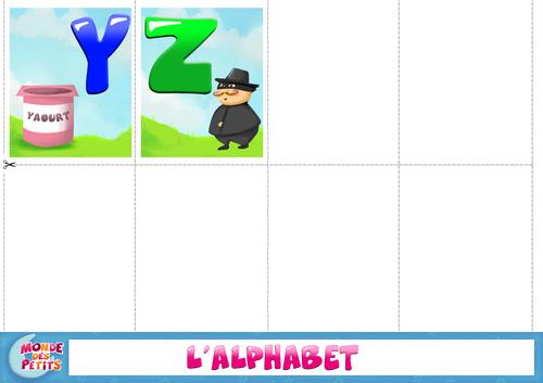 Pour apprendre l'alphabet