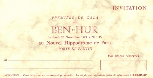 BEN-HUR  à l'Hippodrome de Paris en 1975 présenté Jean Richard et Alexis Gruss Sr