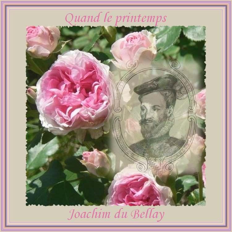 """"""" Quand le printemps """" de Joachim du Bellay"""