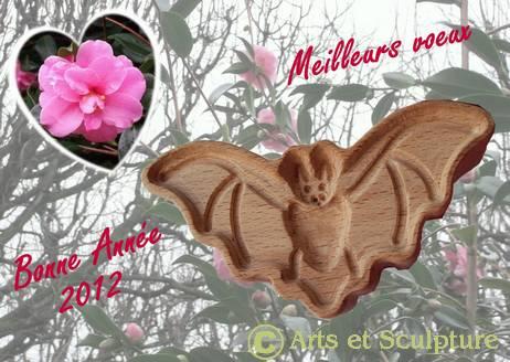 Bonne annee 2012 chauve-souris- Arts et Sculpture: sculpteur, moules personnalisés