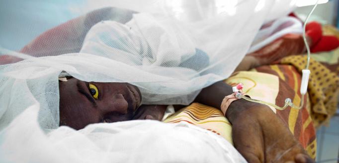 15% des patients atteints de fièvre jaune connaissent une deuxième phase de la maladie, plus toxique, durant laquelle une jaunisse peut apparaître. ©ALBERT GONZALEZ FARRAN / UNAMID / AFP