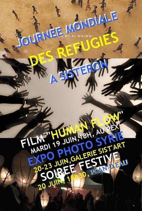 *journées mondiales des Réfugiés, 19 et 20 juin 2018 à Sisteron