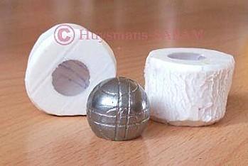 sujet décoratif boule de pétanque réalisé dans un moule en silicone - Arts et sculpture: sculpteur designer