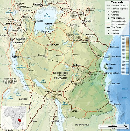 596px-Tanzania map-fr svg