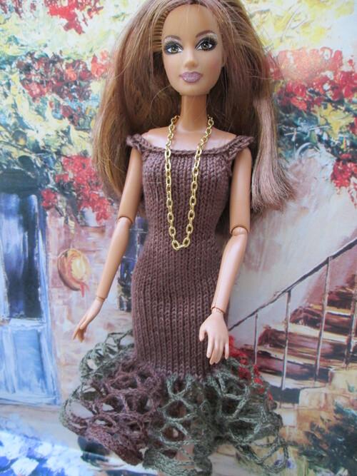 Robes à volants frous-frous pour barbie