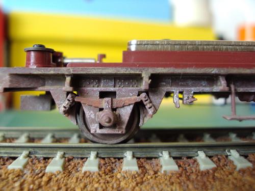Patine d'un wagon type G4 à frises Jouef