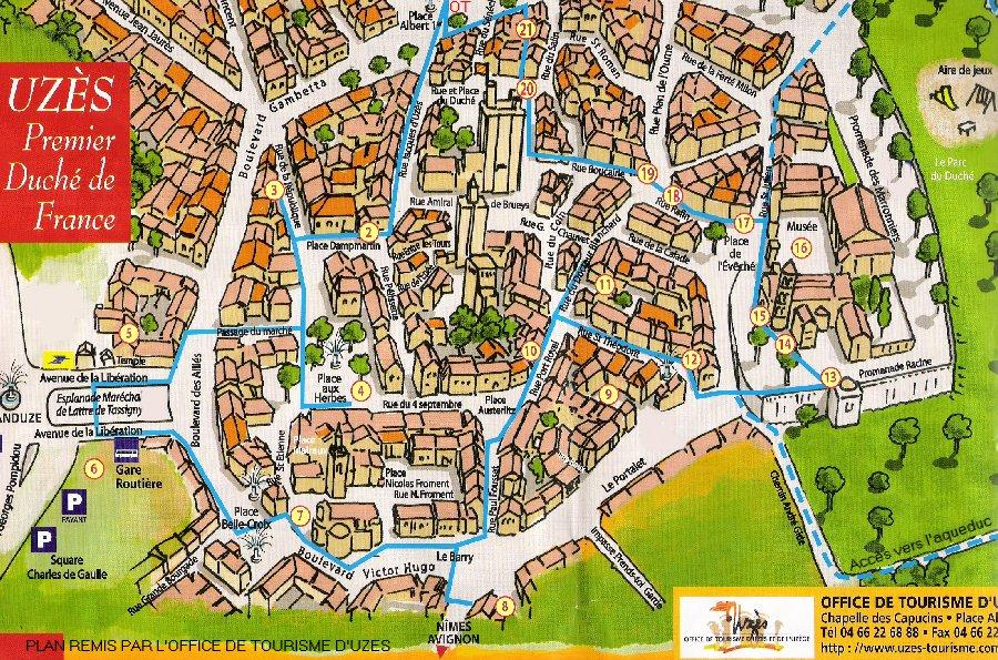 Uzes ville historique gard rando77 for Le petit jardin uzes
