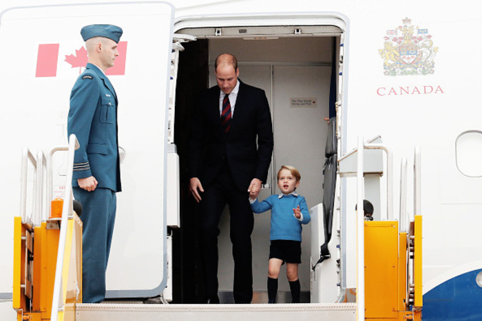 Arrivée de William, Kate, George et Charlotte au Canada