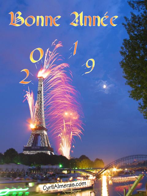 Voeux Bonne Année 2019 gratuit