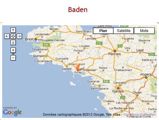 Baden-carte