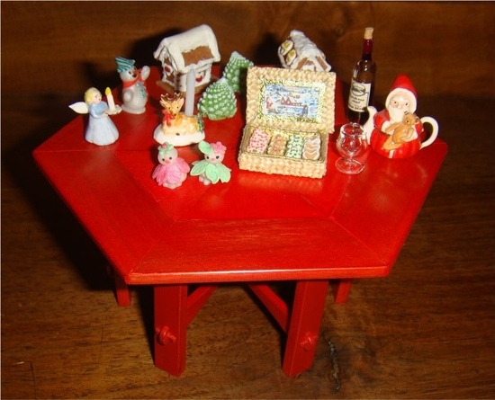 table rouge pÈre noËl
