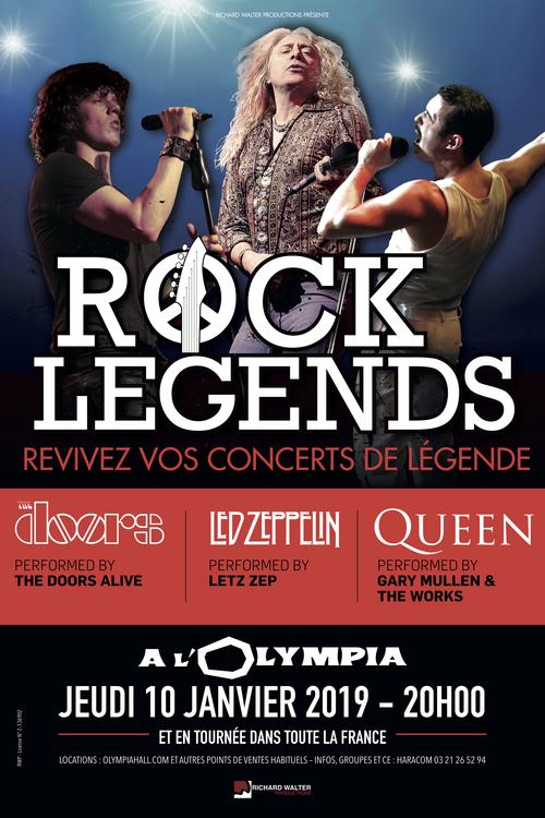 Rock Legends fait vivre en live la magie de Queen, The Doors, Led Zeppelin