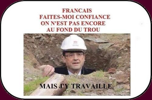 Hollande qui se débine est dans la tourmente des grèves!