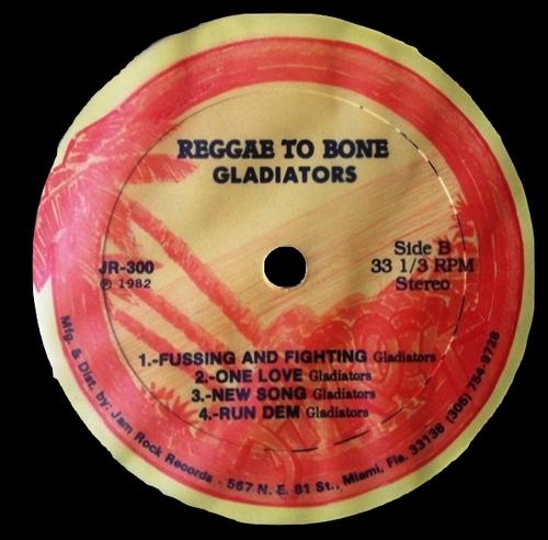 """The Gladiators : Album """" Reggae To Bone """" Jam Rock Records JR-300 [ US ]"""