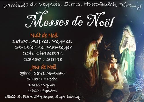 Messe de noël - 24 et 25 décembre 2012 - affiche