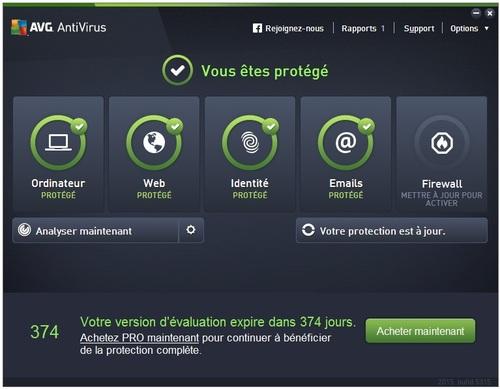 Avg Antivirus 2015 - Licence 1 an gratuit