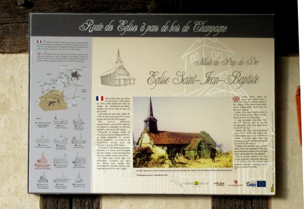 L'église à pans de bois Saint Jean Baptiste de Nuisement aux Bois