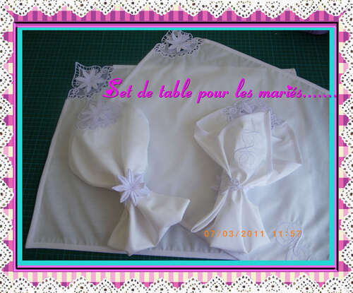set de table broderie