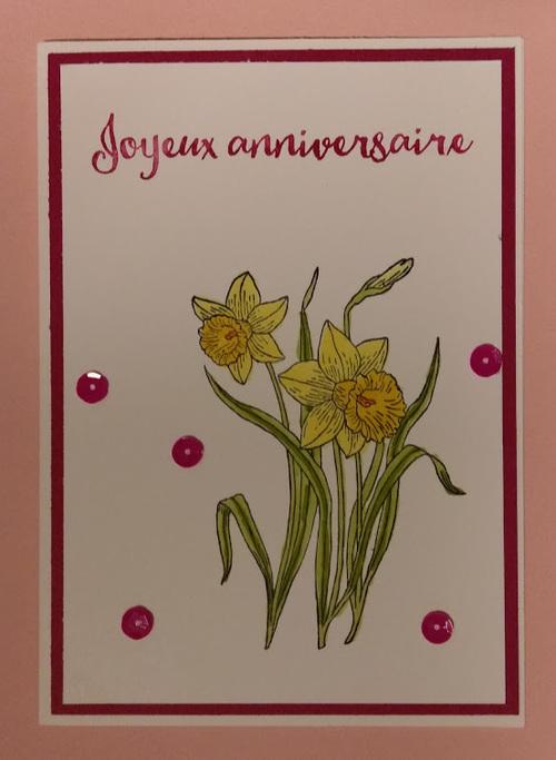 carte anniversaire...