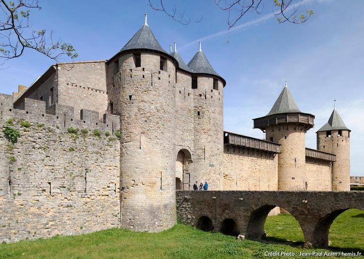 Carcassonne, le château comtal (Aude)