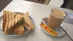 Letztes Sandwich vor dem Rückflug