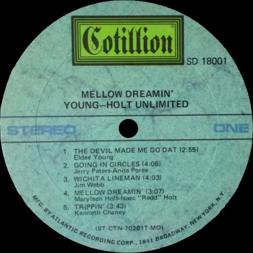 "Young-Holt Unlimited : Album "" Mellow Dreamin' "" Cotillion Records SD 18001 [ US ]"
