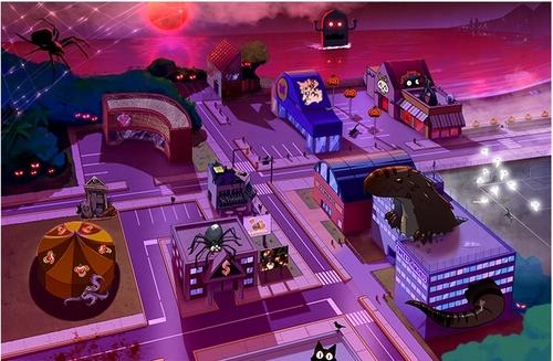 La ville version Halloween