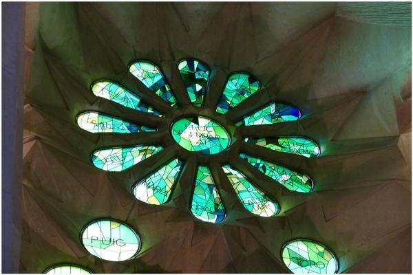 L'intérieur de La Sagrada Familia.