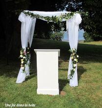 Arche pour la cérémonie païenne de mariage